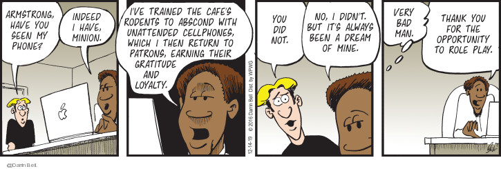 Comic Strip Darrin Bell  Candorville 2019-12-14 phone