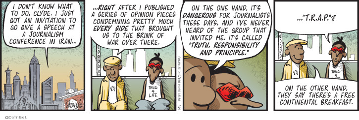 Comic Strip Darrin Bell  Candorville 2020-01-15 war