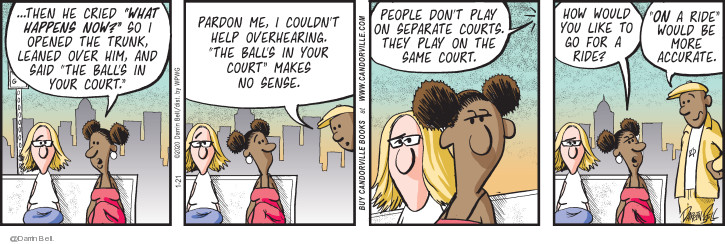 Comic Strip Darrin Bell  Candorville 2020-01-21 expression