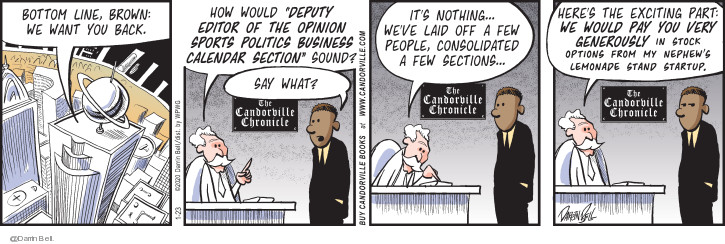 Comic Strip Darrin Bell  Candorville 2020-01-23 journalism