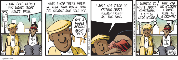 Comic Strip Darrin Bell  Candorville 2020-01-30 politics