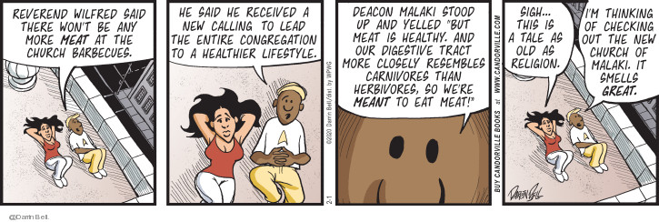Comic Strip Darrin Bell  Candorville 2020-02-01 food