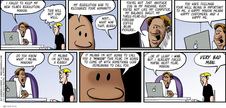 Comic Strip Darrin Bell  Candorville 2020-02-16 new year's resolution