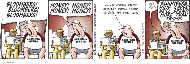 Cartoonist Darrin Bell  Candorville 2020-02-24 money