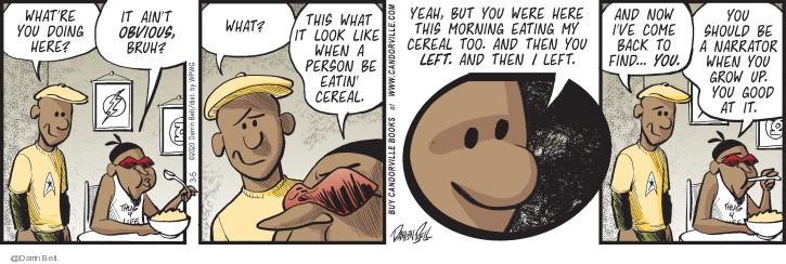 Comic Strip Darrin Bell  Candorville 2020-03-05 eat