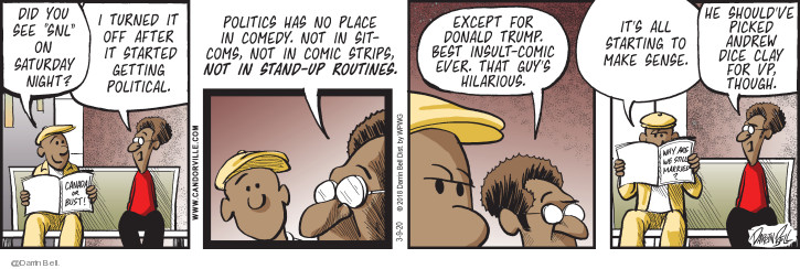 Comic Strip Darrin Bell  Candorville 2020-03-09 Donald Trump