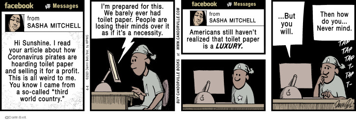 Comic Strip Darrin Bell  Candorville 2020-04-04 Facebook