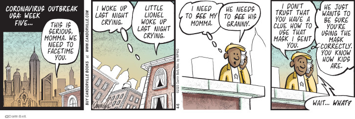 Comic Strip Darrin Bell  Candorville 2020-04-06 mother