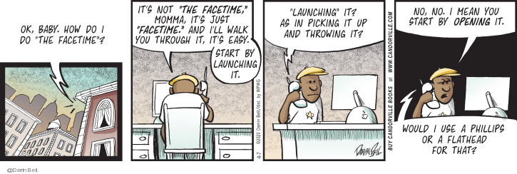Comic Strip Darrin Bell  Candorville 2020-04-07 open