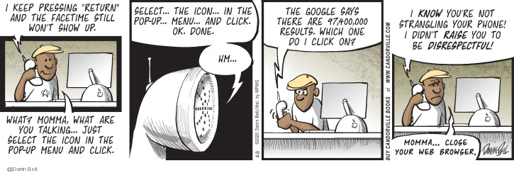 Comic Strip Darrin Bell  Candorville 2020-04-08 Google