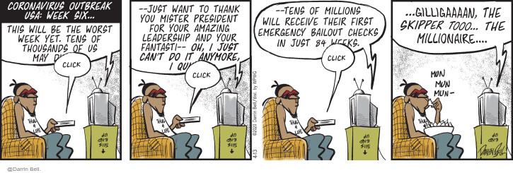 Comic Strip Darrin Bell  Candorville 2020-04-13 million