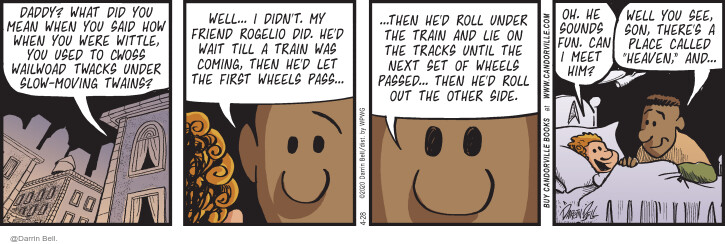 Comic Strip Darrin Bell  Candorville 2020-04-28 train