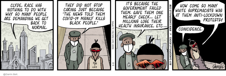 Comic Strip Darrin Bell  Candorville 2020-05-12 illness