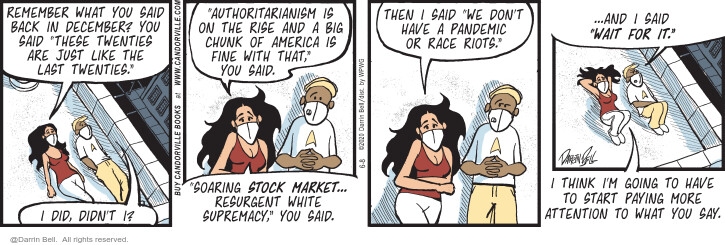 Comic Strip Darrin Bell  Candorville 2020-06-08 stock market