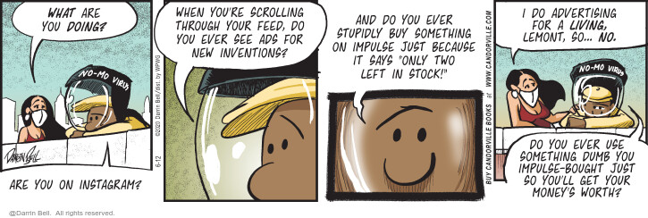 Comic Strip Darrin Bell  Candorville 2020-06-12 money