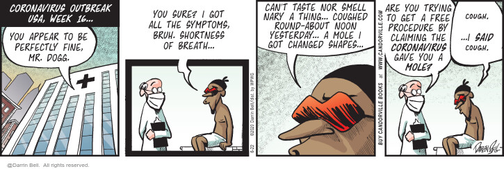 Comic Strip Darrin Bell  Candorville 2020-06-22 illness