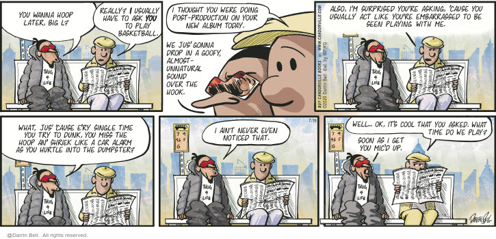 Comic Strip Darrin Bell  Candorville 2020-07-19 even