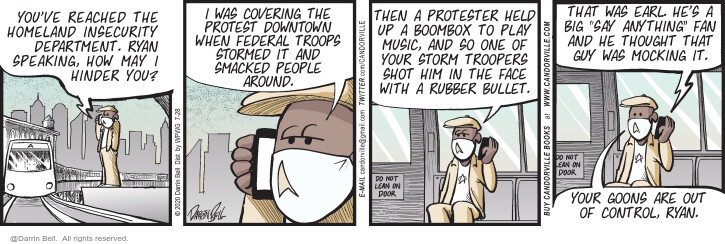 Comic Strip Darrin Bell  Candorville 2020-07-28 enforcement
