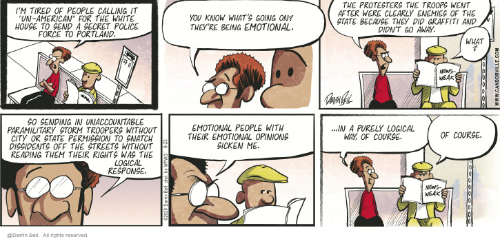 Comic Strip Darrin Bell  Candorville 2020-08-23 enforcement