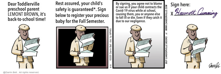 Comic Strip Darrin Bell  Candorville 2020-08-10 safety