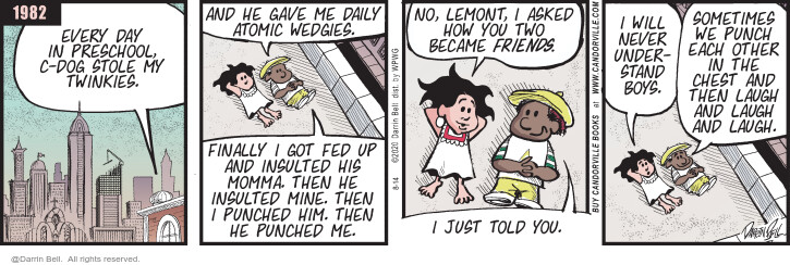 Comic Strip Darrin Bell  Candorville 2020-08-14 two