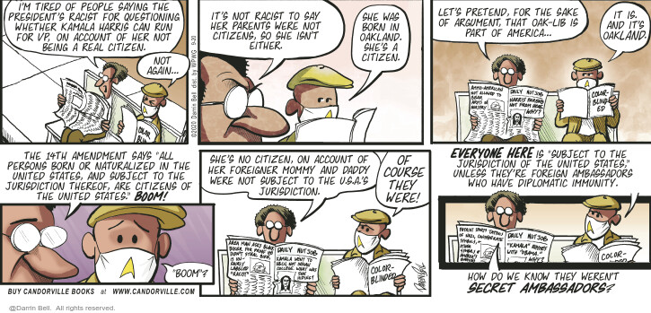 Comic Strip Darrin Bell  Candorville 2020-09-20 politics