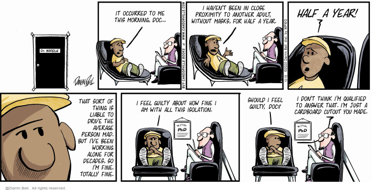 Comic Strip Darrin Bell  Candorville 2020-10-18 therapy