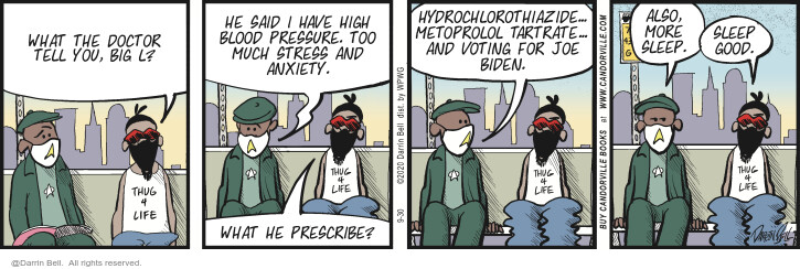 Comic Strip Darrin Bell  Candorville 2020-09-30 disease