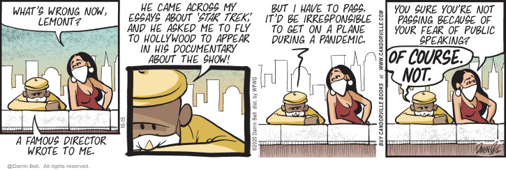 Comic Strip Darrin Bell  Candorville 2020-10-15 flight