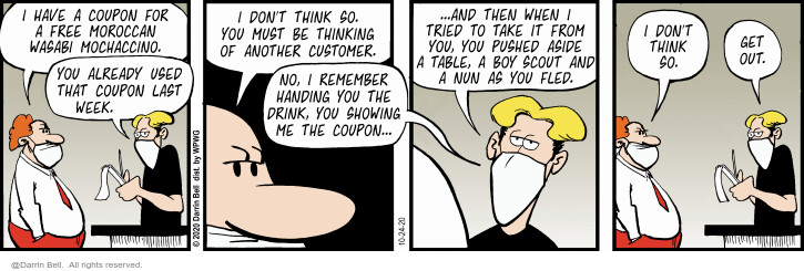 Comic Strip Darrin Bell  Candorville 2020-10-24 customer