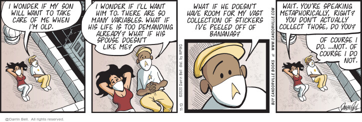 Comic Strip Darrin Bell  Candorville 2020-11-13 future