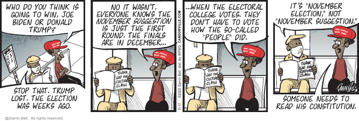Comic Strip Darrin Bell  Candorville 2020-11-17 2020 election Donald Trump
