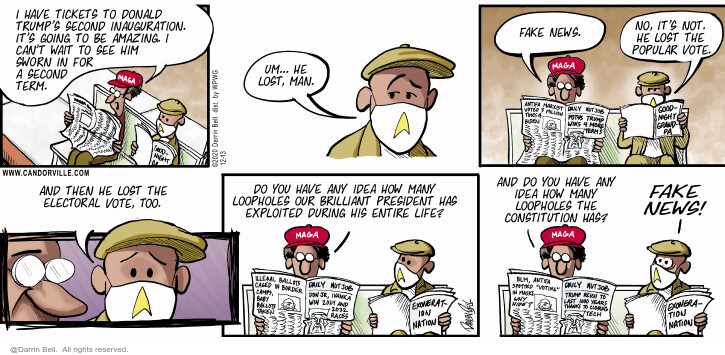 Comic Strip Darrin Bell  Candorville 2020-12-13 Lost