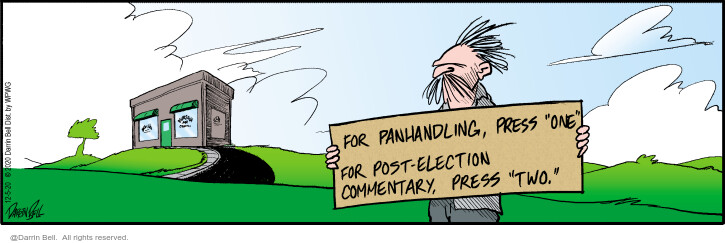Comic Strip Darrin Bell  Candorville 2020-12-05 presidential election