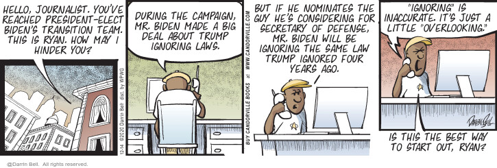 Comic Strip Darrin Bell  Candorville 2020-12-14 2020 election Donald Trump
