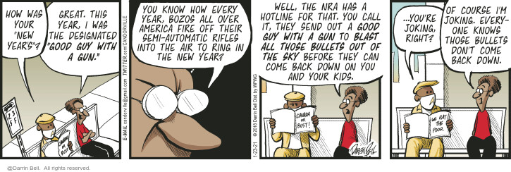 Comic Strip Darrin Bell  Candorville 2021-01-23 shooting