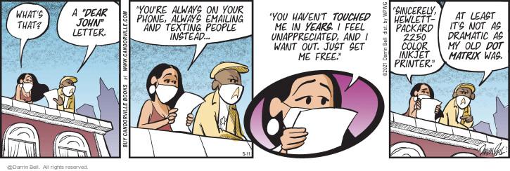 Comic Strip Darrin Bell  Candorville 2021-05-11 just