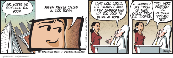 Comic Strip Darrin Bell  Candorville 2021-06-17 today