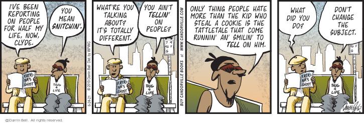 Comic Strip Darrin Bell  Candorville 2021-06-24 talk
