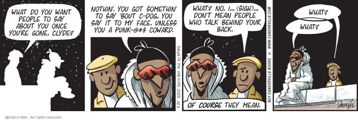 Comic Strip Darrin Bell  Candorville 2021-06-29 talk