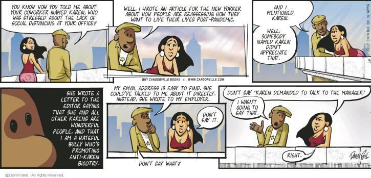 Comic Strip Darrin Bell  Candorville 2021-08-08 talk