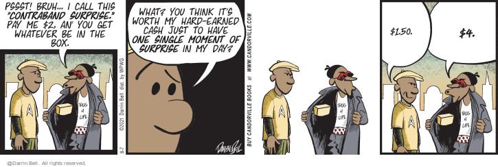 Comic Strip Darrin Bell  Candorville 2021-08-07 pay