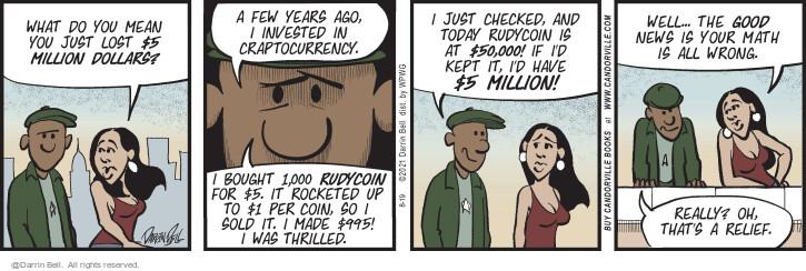 Comic Strip Darrin Bell  Candorville 2021-08-19 financial