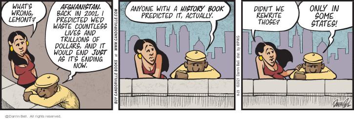 Comic Strip Darrin Bell  Candorville 2021-08-23 historic