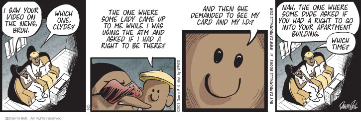 Comic Strip Darrin Bell  Candorville 2021-08-25 there