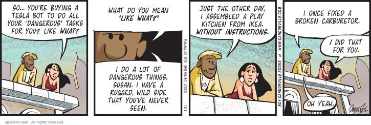 Comic Strip Darrin Bell  Candorville 2021-08-31 lot