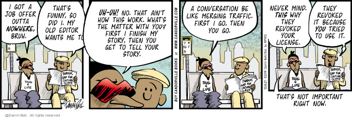 Comic Strip Darrin Bell  Candorville 2021-10-09 important