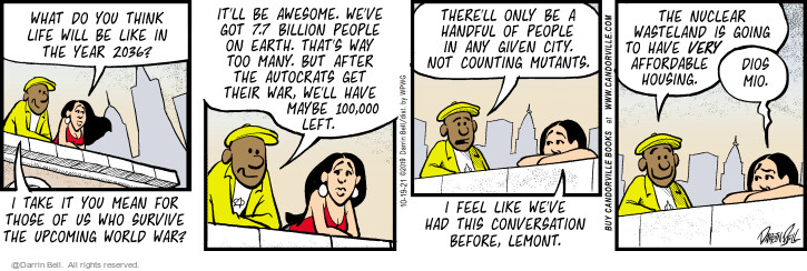 Comic Strip Darrin Bell  Candorville 2021-10-19 there