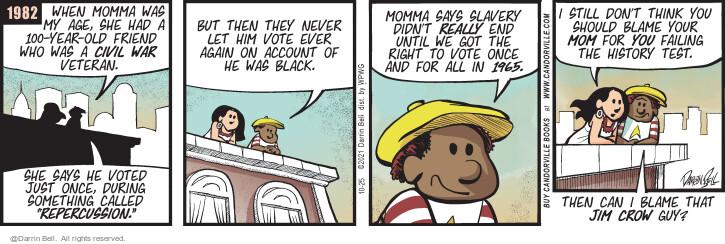 Comic Strip Darrin Bell  Candorville 2021-10-25 can