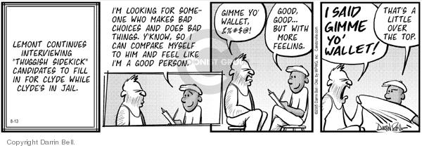Comic Strip Darrin Bell  Candorville 2005-08-13 behavior